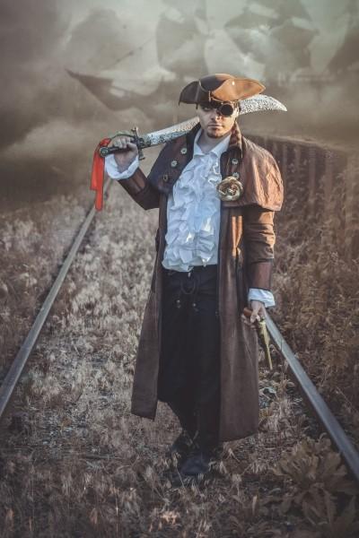 Steampunk-Pirat