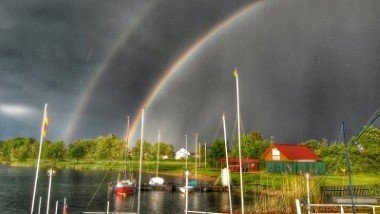 Regenbogen überm Singliser See