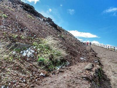 Weg zum Gipfel des Vesuvs