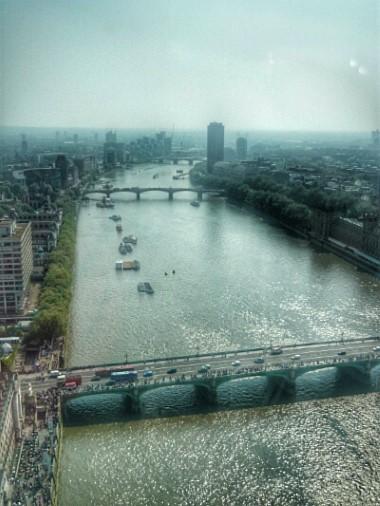 Aussicht London Eye auf Themse