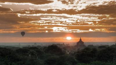 Sonnenaufgang von Taung Guni