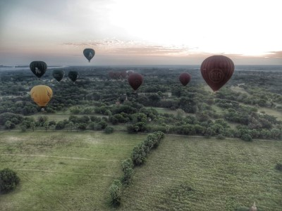 Bagan Ballonflug