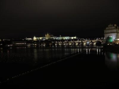 Karlsbrücke/Hradschin bei Nacht